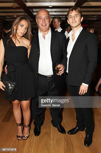 Chloe Green Sir Philip Green and Brandon Green attend a private dinner celebrating the Global Launch of the 'Kate Moss for TopShop Collection' at The...