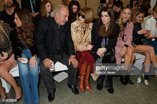 Chloe Green, Sir Philip Green, Anna Wintour, Bee Shaffer, Harley Viera Newton and Chelsea Leyland attend the Topshop Unique at The Tate Britain on...