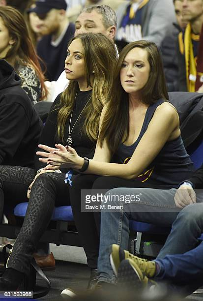 Chloe Green sits courtside at the NBA Global Game London 2017 basketball game between the Indiana Pacers and Denver Nuggets at The O2 Arena on...