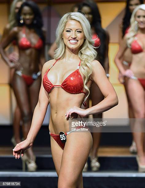 Chloe Gregory of North Richland Hills Texas competes in the 20th annual Hooters International Swimsuit Pageant at The Pearl concert theater at Palms...