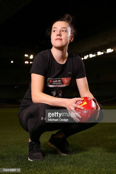 Chloe Haines poses during the AFLW Draft Combine at Etihad Stadium on October 2 2018 in Melbourne Australia