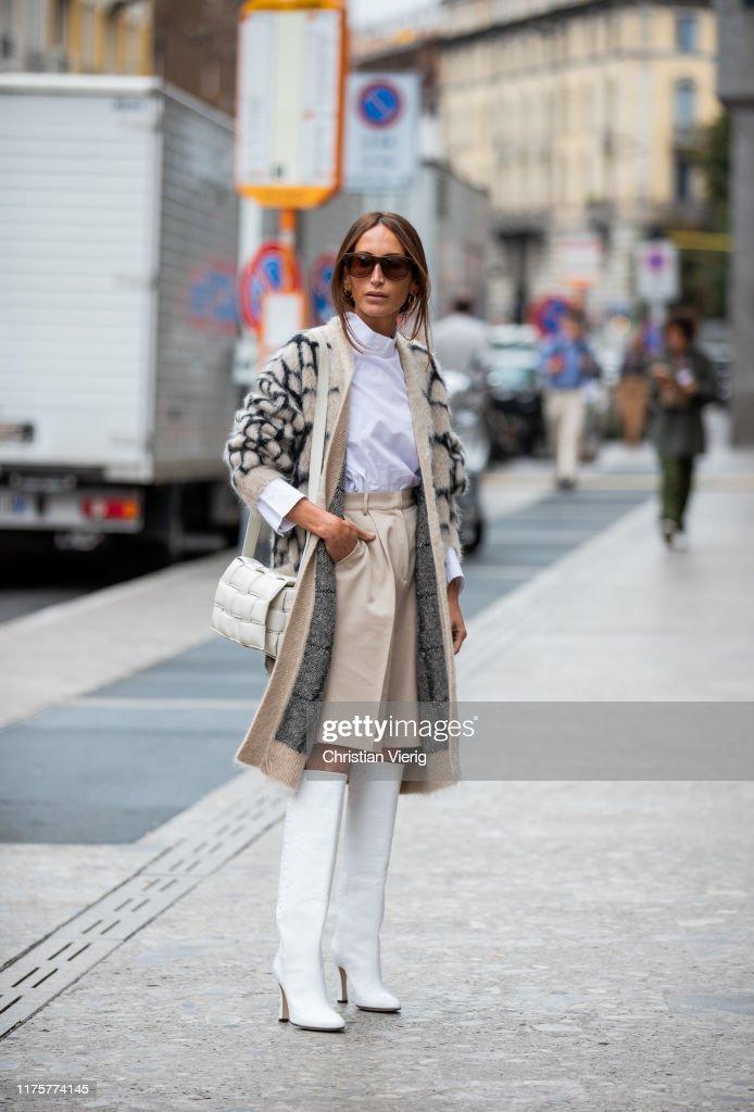 Street Style: September 19 - Milan Fashion Week Spring/Summer 2020 : News Photo