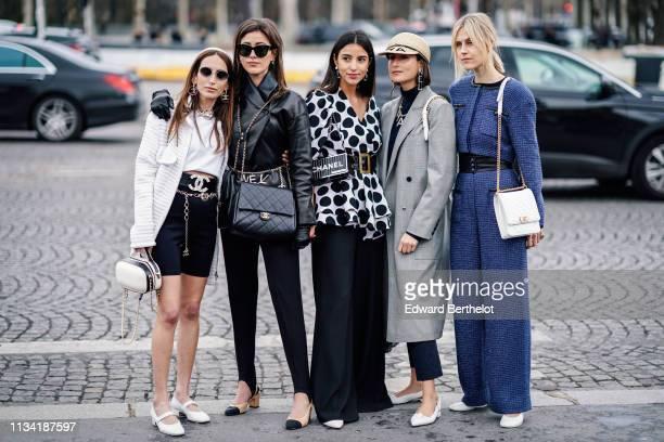 b5d97435 Chloe Harrouche Sylvia Haghjoo Bettina Looney Julia Haghjoo Linda Tol are  seen outside Chanel during Paris
