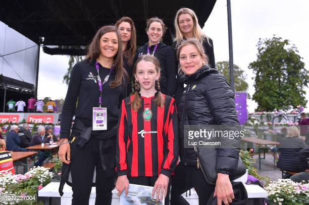 Chloe Hosking of Australia and Team Ale Cipollini / Anna Trevisi of Italy and Team Ale Cipollini / Ane Santesteban of Spain and Team Ale Cipollini /...
