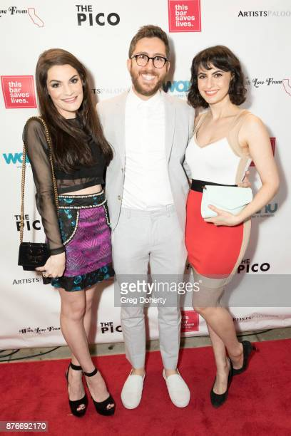 Chloe Jacobs Amir Blumenfeld and Avital Ash attend With Love From California A Night Of One Act Plays Benefiting Hurricane Relief Efforts Through...