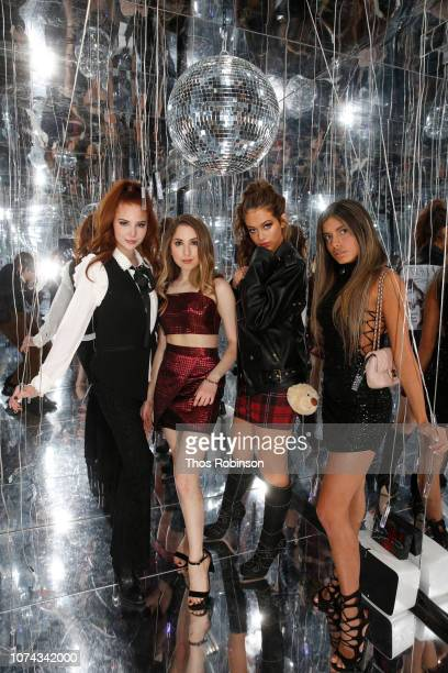 Chloe Jane Carrie Berk Parker Winston and Isabella Fonte attend Carrie Berk Carrie's Chronicles Relaunch at Winky Lux on December 17 2018 in New York...