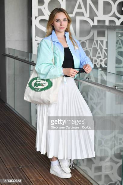 Chloe Jouannet attends the 2021 French Open at Roland Garros on May 30, 2021 in Paris, France.