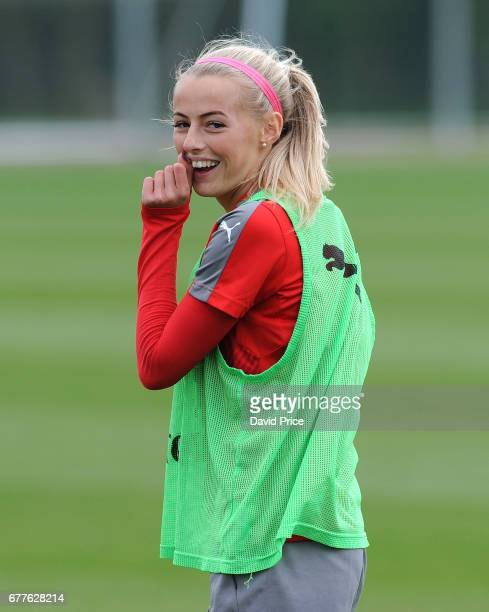 Chloe Kelly of Arsenal Ladies during an Arsenal Ladies Training Session at London Colney on May 3 2017 in St Albans England