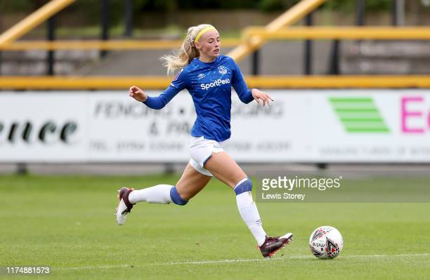 Chloe Kelly of Everton during the Barclays FA Women's Super League match between Everton and Bristol City at Haig Avenue on September 15 2019 in...