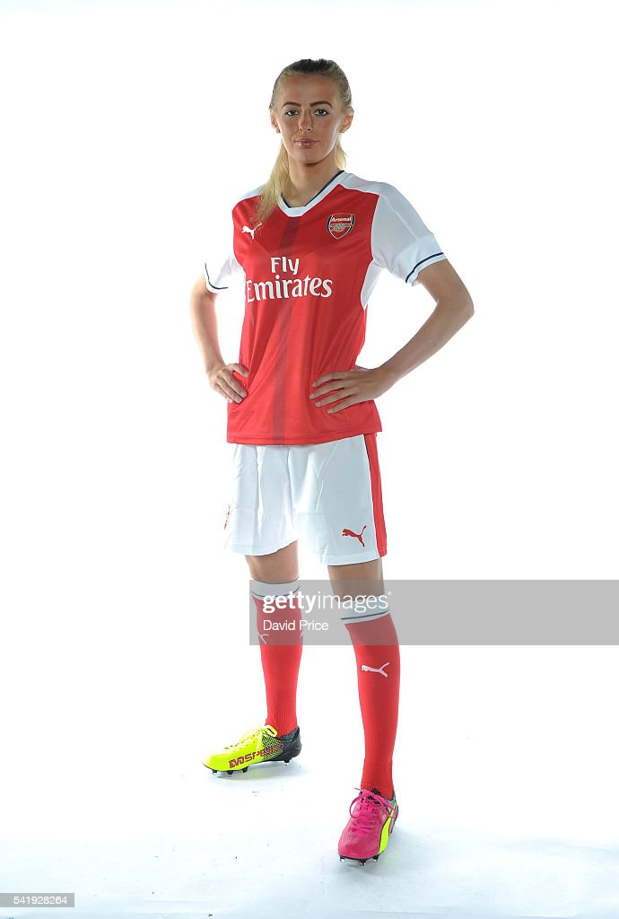 Chloe Kelly of the Arsenal Ladies during their photocall at London Colney on June 16, 2016 in St Albans, England.