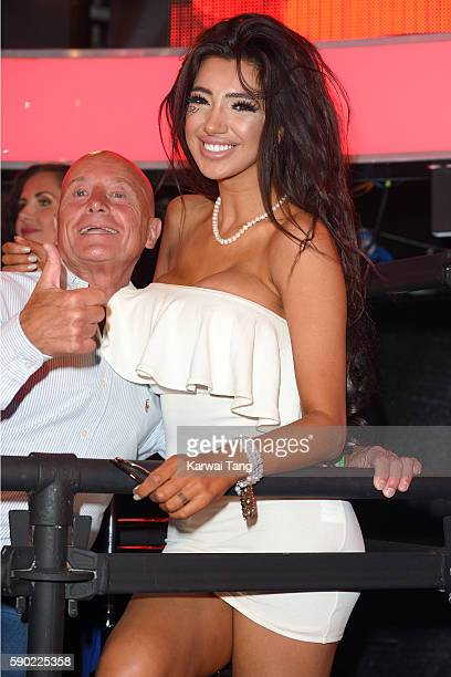 Chloe Khan and Stephen Bear's father attend Celebrity Big Brother 2016 at Elstree Studios on August 16 2016 in Borehamwood England