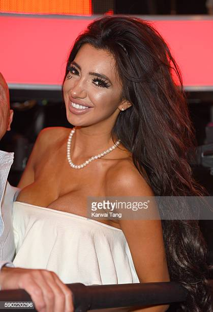 Chloe Khan attends Celebrity Big Brother 2016 at Elstree Studios on August 16 2016 in Borehamwood England