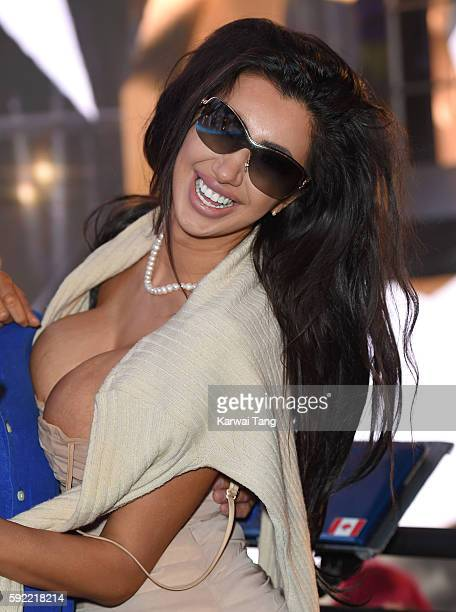 Chloe Khan attends Celebrity Big Brother 2016 at Elstree Studios on August 19 2016 in Borehamwood England
