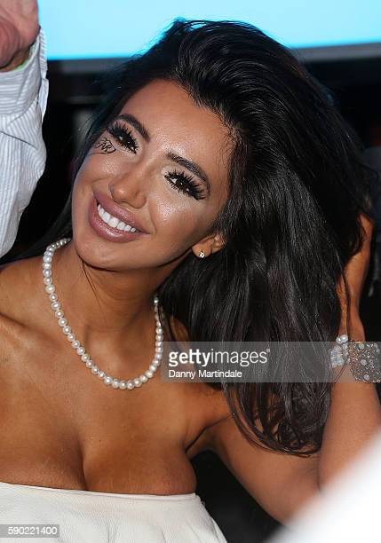 Chloe Khan attends the fourth eviction from the Celebrity Big Brother at Elstree Studios on August 16 2016 in Borehamwood England