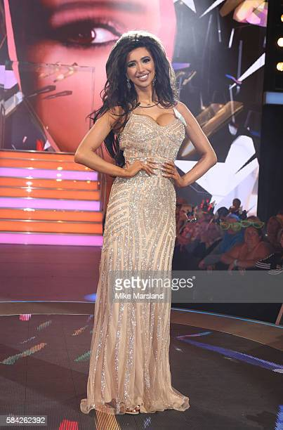 Chloe Khan enters the Celebrity Big Brother House at Elstree Studios on July 28 2016 in Borehamwood England