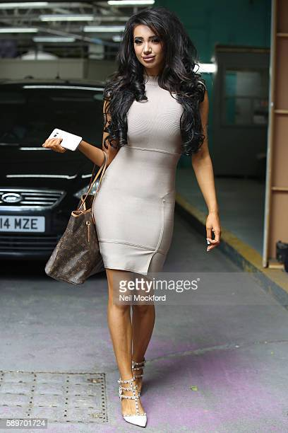 Chloe Khan seen at the ITV Studios after appearing on This Morning on August 15 2016 in London England