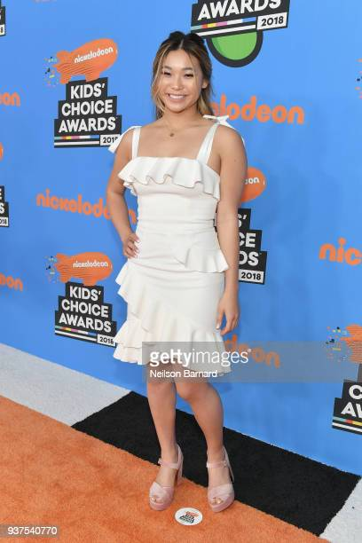 Chloe Kim attends Nickelodeon's 2018 Kids' Choice Awards at The Forum on March 24, 2018 in Inglewood, California.