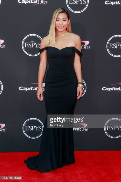 Chloe Kim attends the 2018 ESPYS at Microsoft Theater on July 18 2018 in Los Angeles California