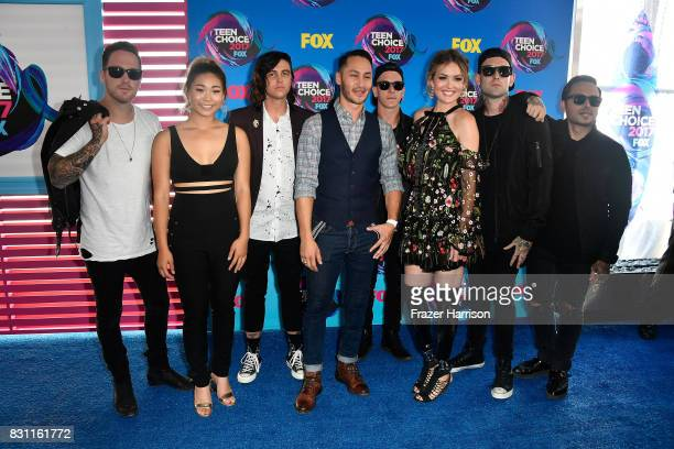 Chloe Kim Mike Shea and Amy Purdy and Sleeping With Sirens attend the Teen Choice Awards 2017 at Galen Center on August 13 2017 in Los Angeles...