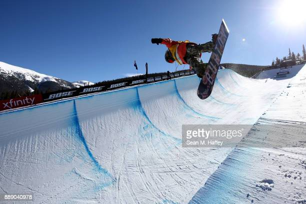 Chloe Kim of the United States competes in the finals of the FIS Snowboard World Cup 2018 MLadies Snowboard Halfpipe during the Toyota US Grand Prix...