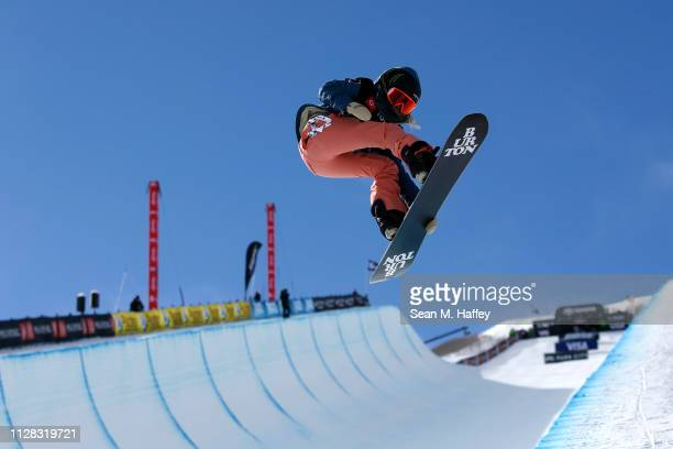 Chloe Kim of The United States competes in the Ladies' Snowboard Halfpipe Final at the FIS Snowboard World Championships on February 8, 2019 at Park...
