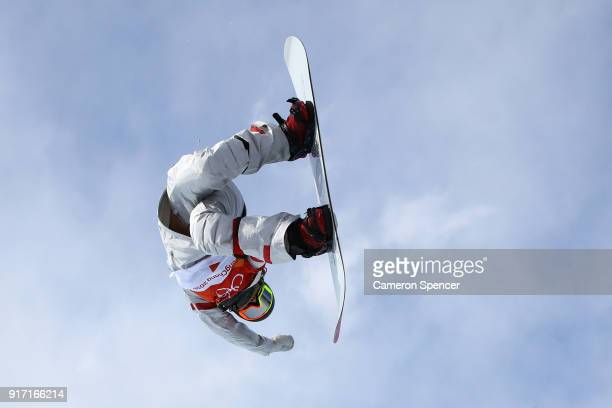 Chloe Kim of the United States competes in the Snowboard Ladies' Halfpipe Qualification on day three of the PyeongChang 2018 Winter Olympic Games at...