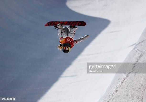 Chloe Kim of the United States during the Snowboard Ladies' Halfpipe Final on day four of the PyeongChang 2018 Winter Olympic Games at Phoenix Snow...