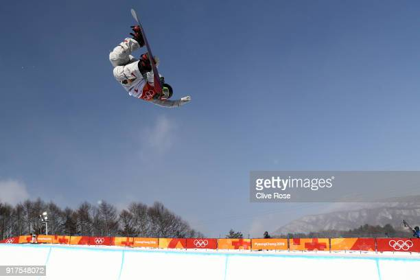 Chloe Kim of the United States warms up priior to the Women's Halfpipe Final on day four of the PyeongChang 2018 Winter Olympic Games at Phoenix Snow...