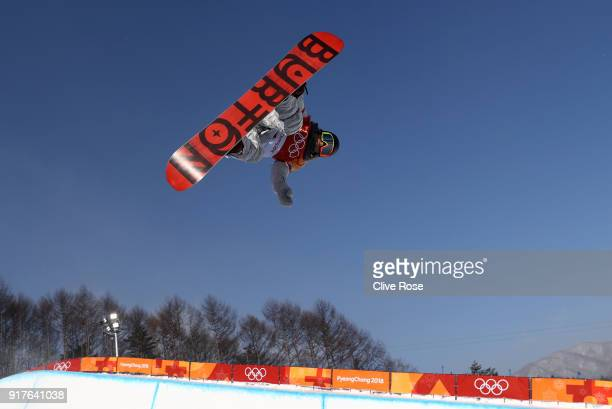 Chloe Kim of the United States warms up prior to the Women's Halfpipe Final on day four of the PyeongChang 2018 Winter Olympic Games at Phoenix Snow...