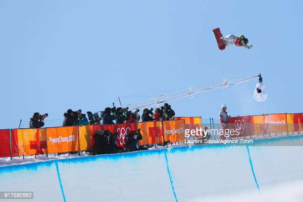 Chloe Kim of USA takes 1st place during the Snowboarding Women's Halfpipe Finals at Pheonix Snow Park on February 13 2018 in Pyeongchanggun South...