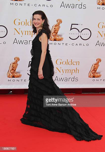 Chloe Lambert arrives at the Monte Carlo TV Festival Closing Ceremony at the Grimaldi Forum on JUNE 10 10 2010 in MonteCarlo Monaco