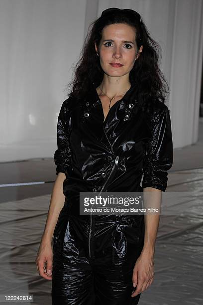 Chloe Lambert attends the Dior Homme show as part of Paris Menswear Fashion Week Spring/Summer 2011 at Halle Freyssinet on June 26, 2010 in Paris,...