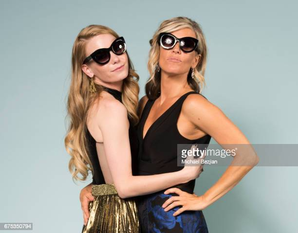 Chloe Lanier and Laura Wright pose for portraits with Foster Grant Sunglasses at The 44th Daytime Emmy Awards Portraits by The Artists Project...