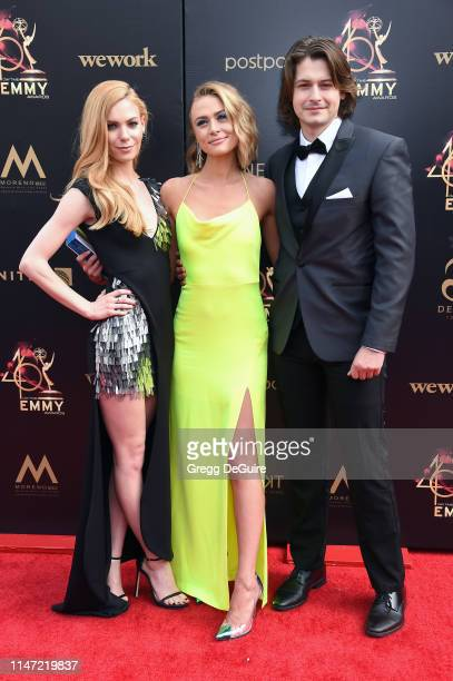 Chloe Lanier Hayley Erin and Morgan McClellan attend the 46th annual Daytime Emmy Awards at Pasadena Civic Center on May 05 2019 in Pasadena...