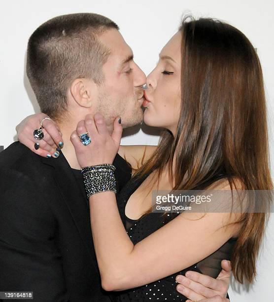 Chloe Lattanzi and fiance James Driskill arrive at the 2011 G'Day USA Los Angeles Black Tie Gala honoring Barry Gibb Roy Emerson and Abbie Cornish...