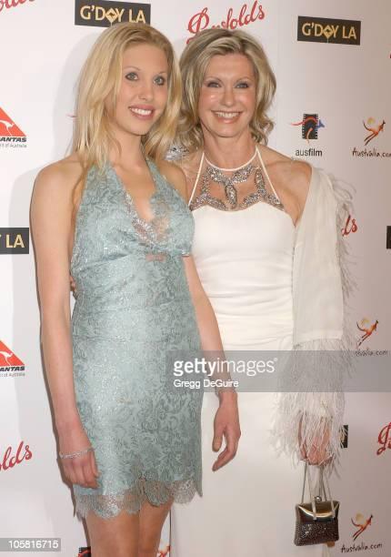 Chloe Lattanzi and mom Olivia NewtonJohn during G'Day LA Australia Week 2006 Penfolds Icon Gala Dinner Arrivals in Los Angelees California United...