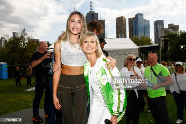 Chloe Lattanzi and Olivia Newton John attends the Olivia NewtonJohn Wellness Walk and Research Run on October 06 2019 in Melbourne Australia The...