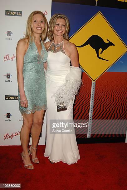 Chloe Lattanzi and Olivia Newton John during G'Day LA Australia Week 2006 Penfolds Icon Gala Dinner Arrivals in Los Angelees California United States