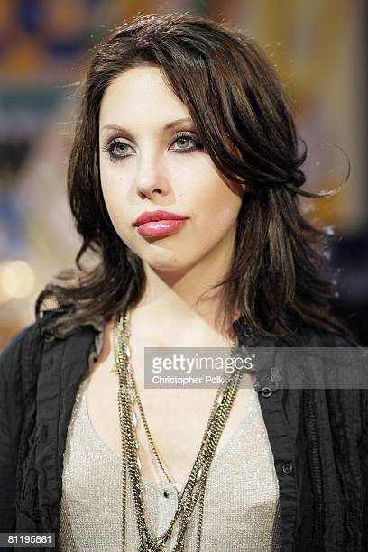 STUDIO CITY CA APRIL 17 Chloe Lattanzi daughter of Olivia NewtonJohn backstage during the live taping of Rock the Cradle on April 17 2008 at CBS...