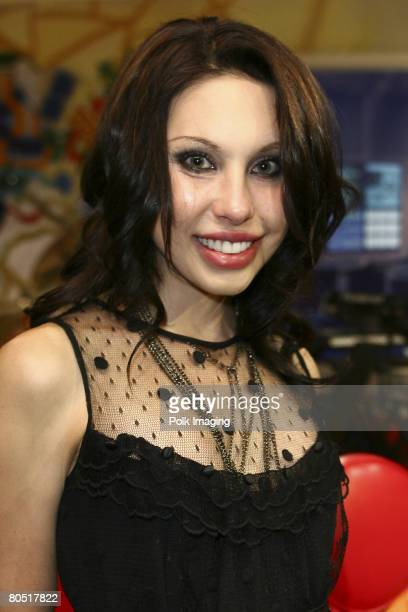 STUDIO CITY CA APRIL 03 Chloe Lattanzi daughter of Olivia NewtonJohn during the live taping of the premiere episode of Rock the Cradle on April 3...