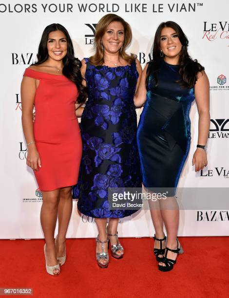 Chloe LeVian Elizabeth LeVian Alexa LeVian attend the Le Vian 2019 Red Carpet Revue at the Mandalay Bay Convention Center on June 3 2018 in Las Vegas...