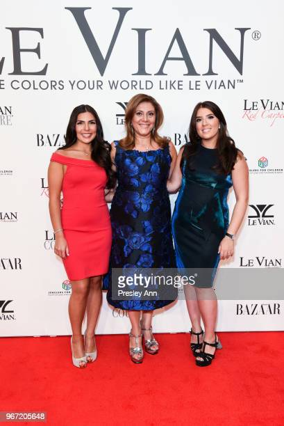 Chloe LeVian Elizabeth LeVian and Alexa LeVian attend Le Vian 2019 Red Carpet Revue on June 3 2018 in Las Vegas Nevada