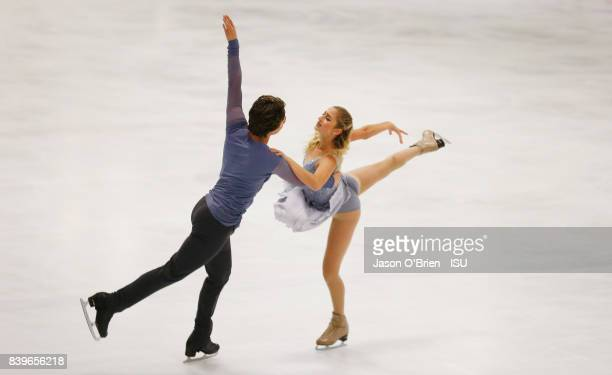 Chloe Lewis and Logan Bye of USA perform during the ISU Junior Grand Prix of Figure Skating at on August 26 2017 in Brisbane Australia