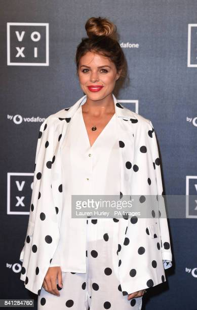 Chloe Lewis attends an event to mark the launch of new mobile VOXI at Brick Lane Yard in London