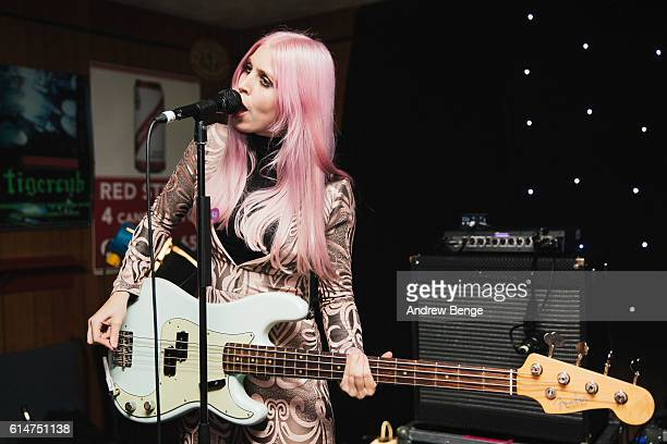 Chloe Little of InHeaven performs at Brudenell Social Club on October 14 2016 in Leeds England