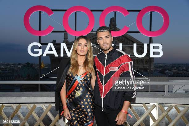 Chloe Lloyd And Josh Buthbert attend Chanel's Coco Game Club event Photocall at Galeries Lafayette Haussmann on June 20 2018 in Paris France