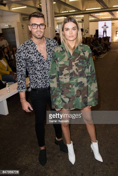 Chloe Lloyd and Josh Cuthbert attends Streets of EQT a fashion show celebrating street style at The Old Truman Brewery on September 15 2017 in London...