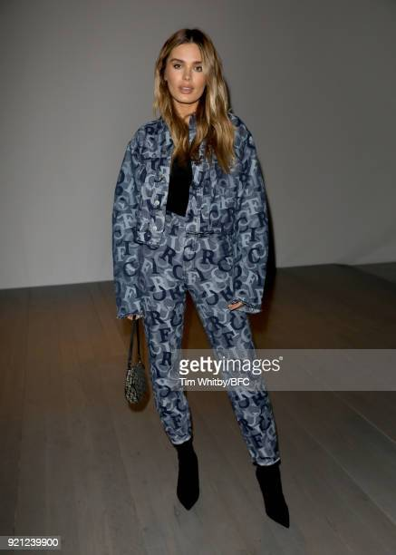 Chloe Lloyd attends the Teatum Jones show during London Fashion Week February 2018 at BFC Show Space on February 20, 2018 in London, England.