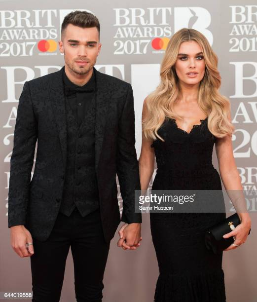 ONLY Chloe Lloyd Josh Cuthbert attend The BRIT Awards 2017 at The O2 Arena on February 22 2017 in London England
