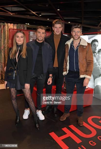 Chloe Lloyd Josh Cuthbert Toby HuntingtonWhiteley and Darren Kennedy attend the Hugo X Liam Payne Bodywear Campaign party at Flannels on December 4...